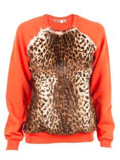 Leopard Fur Sweatshirt - Animal Instinct - Trends
