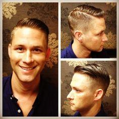 via Tumblr @busyscissors72 | cut by Megan Harvey | men's classic tapered combover |