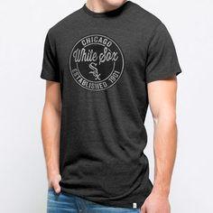 '47 Chicago White Sox Black Tri-State Tri-Blend Slub T-Shirt  Size XXL