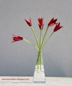 Tulpen aus Eierkartons