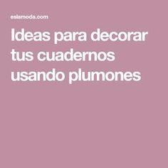 Ideas para decorar tus cuadernos usando plumones Cute Notes, Back 2 School, Tumblr, School Organization, Filofax, School Supplies, Decoration, Diy And Crafts, Doodles