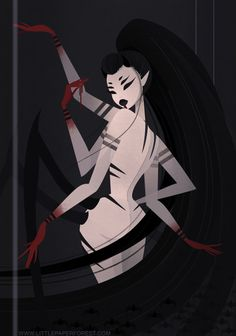 """Jorōgumo is a spider demon from Japanese mythology. Her story will also be featured in my second mini comic; """"Femme Fatale Vol. 2!"""" which is a collection of myths feat. deadly ladies. ♡"""