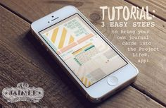 Project Life App Tutorial: 3 Easy Steps to bring your own journal cards in the the app!