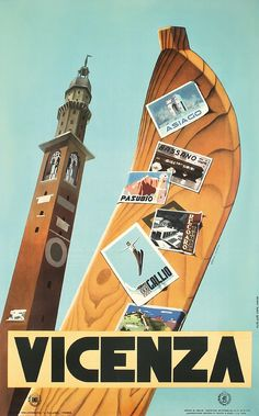 Great Original 1950s Venice Italy Travel Poster