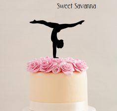 """Gymnast Cake Topper - 6 """"Wide - Emporte-pièces Savanna Doux - For B - Gateau Gymnastics Cakes, Gymnastics Birthday, Gymnastics Clothes, Gymnastics Leotards, Gymnastics Stretches, Gymnastics Tricks, Acrobatic Gymnastics, Gymnastics Workout, Gymnastics Pictures"""