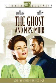 The Ghost and Mrs. Muir (1947) Stars: Gene Tierney, Rex Harrison, George Sanders In 1900, strong-willed widow Lucy Muir goes to live in Gull Cottage by the British seaside, even though it appears to be haunted. Sure enough, that very night she meets the ghost of crusty former owner Captain Gregg...and refuses to be scared off. Indeed, they become friends and allies, after Lucy gets used to the idea of a man's ghost haunting her bedroom.