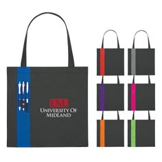 Non-Woven Tote with 3 exterior pen loops now available with multi-color imprinting!