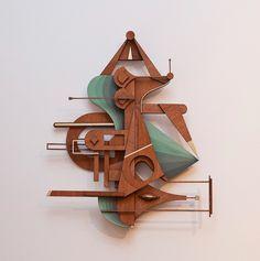 Francisco Miranda's Intricate Art Nouveau Inspired Wood Collages Abstract Sculpture, Wood Sculpture, Wall Sculptures, Art Nouveau, Francisco Miranda, Paper Artwork, Assemblage Art, Art Design, Wood Design