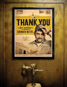 Shiner Urinal Marketing #ad #print #concept