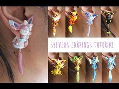 Sylveon Pokemon Polymer Clay Earrings Tutorial