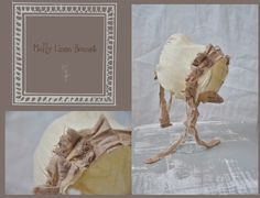 Molly Linen Bonnet   - Newborn Photo Prop - baby photo prop, photo prop, newborn, bonnet, newborn bonnet, baby bonnet, cotton bonnet. $35.00, via Etsy.