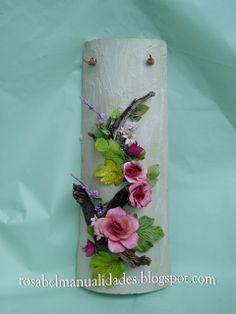 Tejas decoradas con pasta de porcelana                                                                                                                                                                                 Más