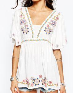 pretty embroidered tunic top