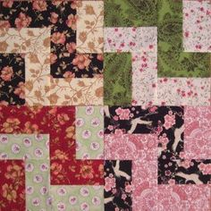 This simple Staircase block will make a stunning finished quilt. Scroll down to see how the blocks will look when several are combined.   F...