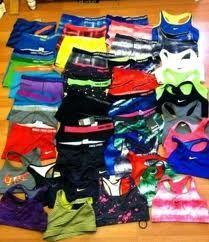 nike shorts and sports bra <3