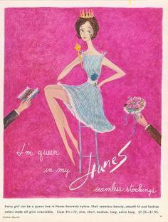 1960s vintage Hanes Hosiery nylons stockings ad