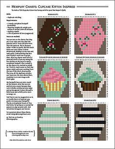 Ravelry: Hexipuff Charts: Cupcake-Kitten-Hat-Inspired pattern by Jennifer Fabian
