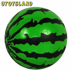 UTOYSLAND Dia.=16cm Inflatable Watermelon Ball Bouncy Balls Children Kids Sport Education Toys
