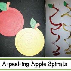 A-peel-ing Apple Spirals – Knippen Pumpkin Crafts, Tree Crafts, Apple Crafts, Classroom Crafts, Preschool Crafts, Preschool Themes, Preschool Learning, Kid Crafts, Apple Activities