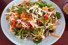 Thai chicken salad - Thermo Foodie and The Chef Free Keto Recipes, Cooking Recipes, Healthy Recipes, Healthy Foods, Chilli Seeds, Thai Chicken Salad, Salad Ingredients, Butter Chicken, Thermomix