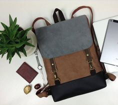 This READY TO SHIP Vegan backpack Vegan leather backpack is just one of the custom, handmade pieces you'll find in our backpacks shops. Best Laptop Backpack, Backpack Purse, Small Lunch Bags, Camo Purse, Work Bags, Computer Bags, Leather Briefcase, Vegan Leather, Etsy