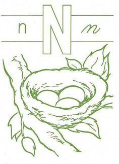 huge selection of d3b69 da055 n is for nest... embroidery pattern  nest  embroidery  pattern