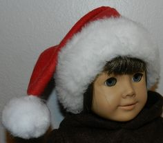 how to make a ag doll santa hat