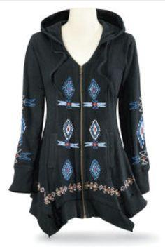 Lillianna II Embroidered Black Jacket