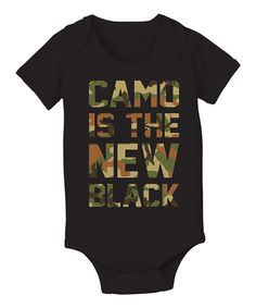 Another great find on #zulily! Country Casuals Black 'Camo Is the New Black' Bodysuit - Infant by Country Casuals #zulilyfinds