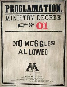 No muggles allowed❕❌