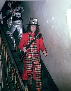 Noddy Holder (Dave Hill in the background) from Slade- his amazing voice. Slade were so much fun to see in concert in the '70s.