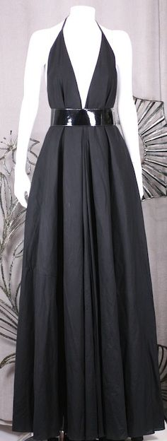 YSL Iconic Halter Gown | From a collection of rare vintage evening dresses at https://www.1stdibs.com/fashion/clothing/evening-dresses/