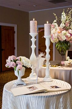 old hollywood wedding decor...change the colors, but love the layout and {feather pen}