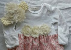 Check out this item in my Etsy shop https://www.etsy.com/listing/278567490/baby-girl-infant-layette-gown-matching