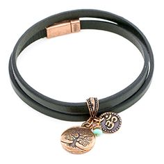 Om Life Bracelet | Fusion Beads Inspiration Gallery: like the clasp for leather cord