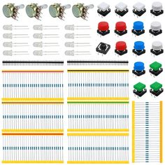 Universal Parts kit for Arduino(contain Carbon Resisters+Rotary Potentiometer) Robot Kits, Technology World, Home Automation, Rotary, Arduino, Consumer Electronics, Teaching, Starter Kit, Alibaba Group