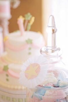 Starry Shabby Chic Birthday Star Party - Kara's Party Ideas - The Place for All Things Party Birthday Star, 1st Birthday Girls, Princess Birthday, 1st Birthday Parties, Birthday Celebration, Birthday Ideas, Shabby Chic 1st Birthday Party, Crepe Paper Roses, Shabby Chic Theme