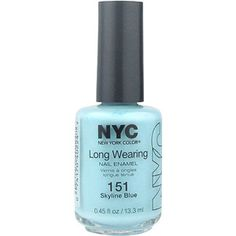 NYC New York Color Long Wearing Nail Enamel, 151 Skyline Blue, 0.45 fl oz