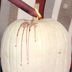 Cut out carving this Halloween with a no-cut waxy pumpkin!