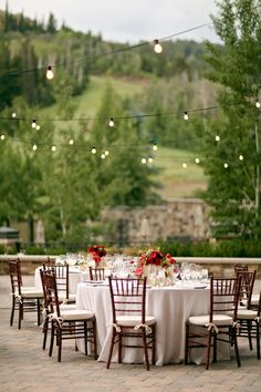 Stunning outdoor reception with cafe lights! | Pepper Nix Photography