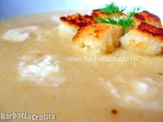 Supa crema de telina cu crutoane Mashed Potatoes, Pudding, Chicken, Meat, Cooking, Ethnic Recipes, Desserts, Supe, Food
