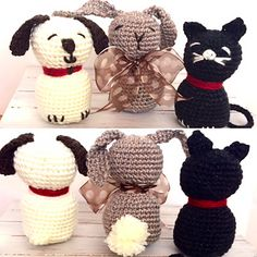Squishy trio of pet animals ready for loads of hugs and love.