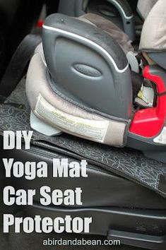 DIY Yoga Mat Car Seat Protector