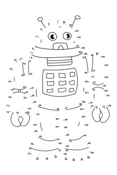 connect the dots worksheets ordered by difficulty whale kids maths robot coloring pages for dot printables printable kindergart - Criabooks : Criabooks Kids Learning Activities, Kindergarten Worksheets, Worksheets For Kids, Printable Worksheets, In Kindergarten, Printable Coloring, Printable Crafts, Free Printables, Dot Robot