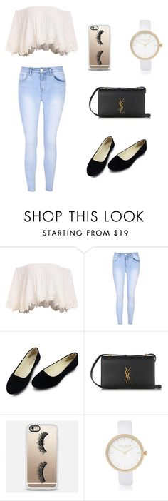 """""""Untitled #12"""" by hanaybi ❤ liked on Polyvore featuring Glamorous, Yves Saint Laurent, Casetify and River Island"""