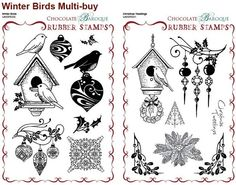 bird stamps rubber | ... Tweetings/Winter Birds Unmounted Rubber stamps Multi-buy - A5