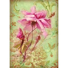 Carta di riso A4 Rosa antica