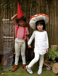 We can't get over how adorable these kids are, especially the child dressed in a polka-dot mushroom costume! All photos by Melanie Acevedo for Scholastic's Parent & Child magazine, October 2012...