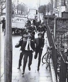 Being the Beatles...Run Boys...Run!