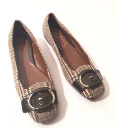 Cole Haan Nike Air Genie TWEED PLAID Preppy Buckle Flats Loafers Shoes size  8M | eBay